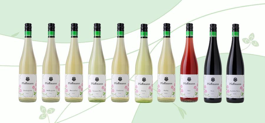 Vegane Bioweine von Bioland Weingut, Pfaffmann Rebsorten-Weine