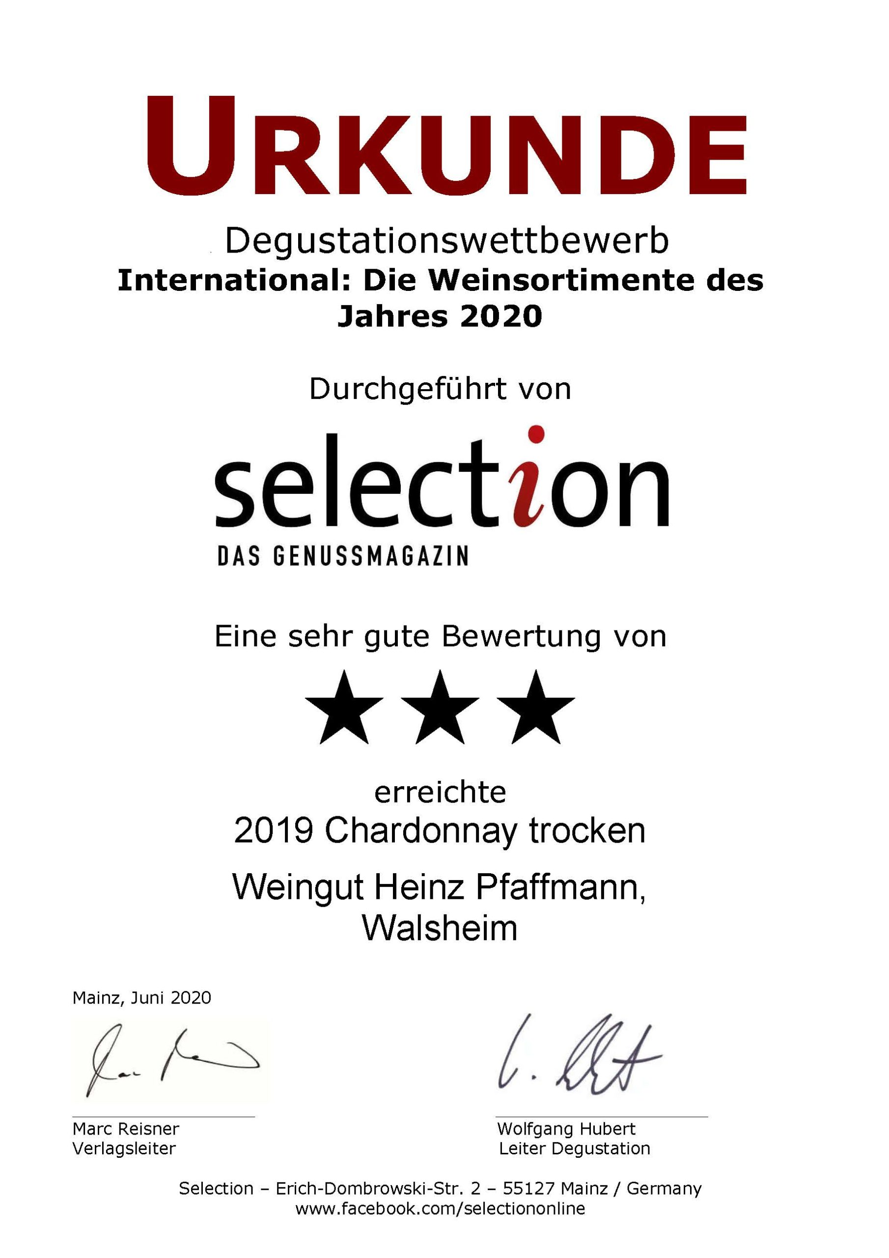 Selection 3 Sterne