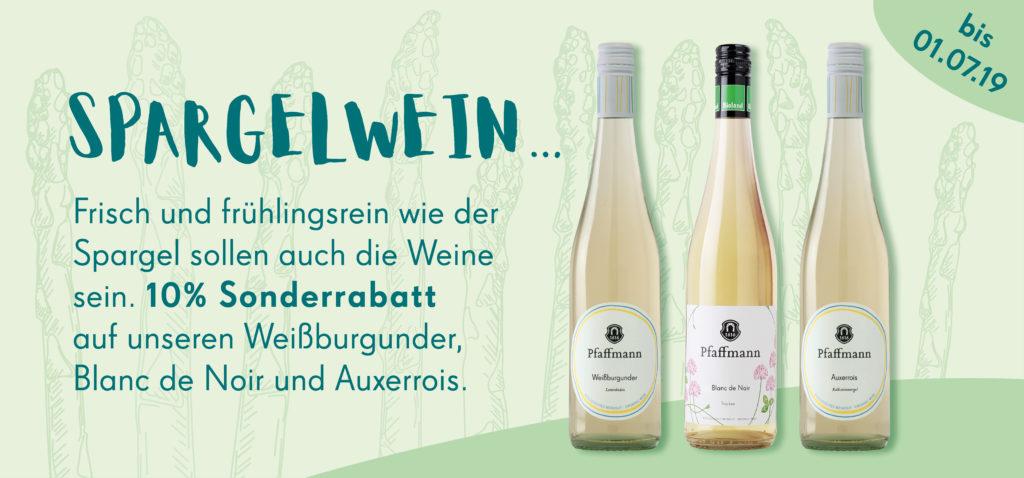 Spargelwein Angebot bei unser Online Shop.